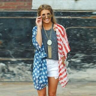 American Flag Kimono Cover Up