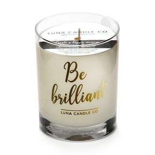 Fresh Lemon Aromatherapy Soy Candle, Low Smoke, Long Burn