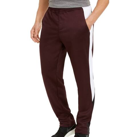 Ideology Mens Sweatpants Red Size 2XL Marled Fleece Colorblocked Panel