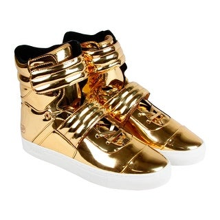 Radii FM1096 Mens Yellow Leather High Top Strap Sneakers Shoes