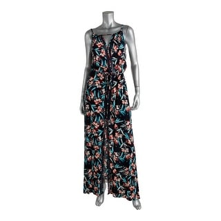 Ella Moss Womens Maxi Dress Floral Print High Neck