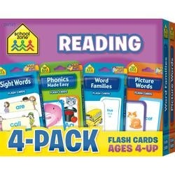 Reading - Flash Cards 4-Pack