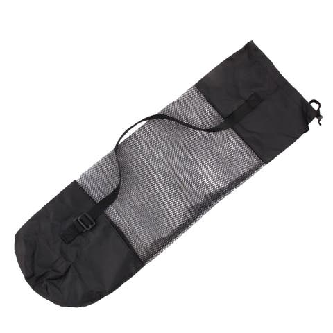 Gym Fitness Exercise Workout Yoga Pilates Mat Mesh Net Carrier Bag Black 26
