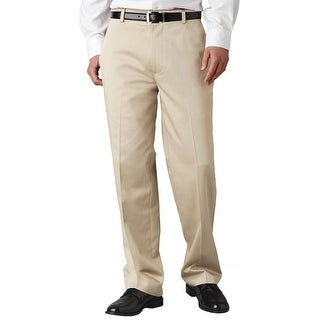 Dockers D3 Classic Fit Essential Flat Front Chinos Pants Beige 40W x 32L - 40