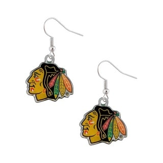 Chicago Blackhawks Dangle Logo Earring Set NHL Charm Gift