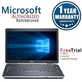 "Refurbished Dell Latitude E6430 14.0"" Laptop Intel Core i5 3320M 2.6G 8G DDR3 240G SSD DVD Win 7 Pro 64 1 Year Warranty - Black"