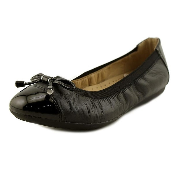 7bfb5677621 Shop Geox Lola 2 Fit 1 Women Round Toe Synthetic Black Flats - Free ...