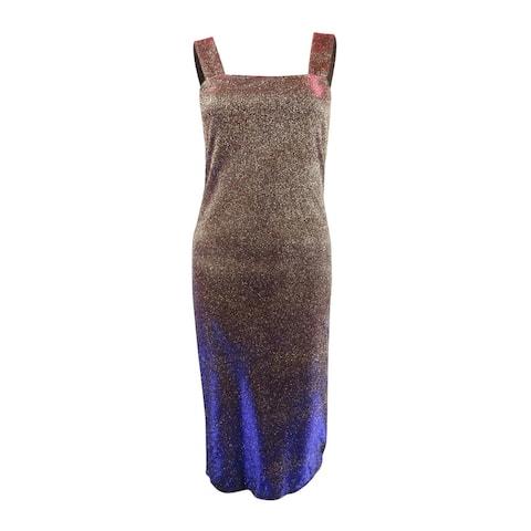 Bardot Women's Mimi Glitter Sheath Dress (S, Gold) - Gold - S