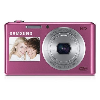 Samsung DV150F Dual-View Smart Digital Camera (Pink)