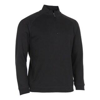 Kirkland Signature Cotton Quarter Zip Pullover Sweatshirt Black