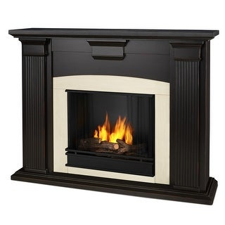 Real Flame 7920-BW Adelaide Ventless Gel Fireplace in Blackwash