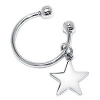 832412617 Blank Star Tag Keychain Engravable Horseshoe Type Key Ring Holder For Men  For Women Graduation 925