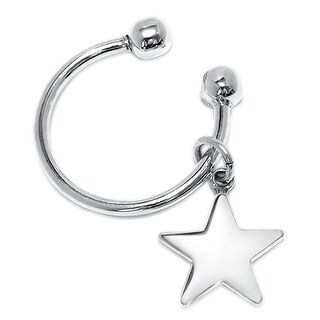 Bling Jewelry Patriotic Sterling Silver Dangling Star Key Ring