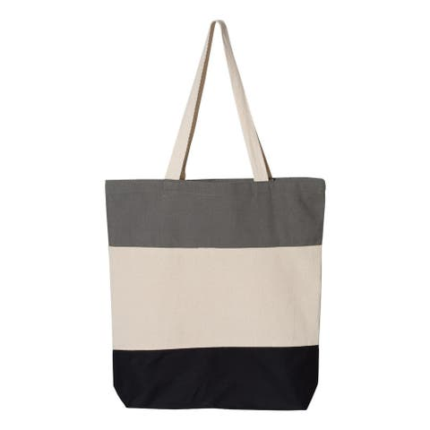 Canvas Tri-Color Tote Bag