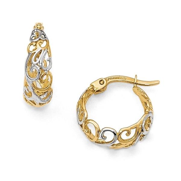 14k Two-tone Gold Earrings