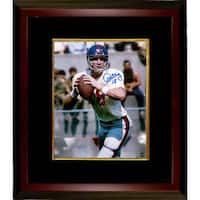 Archie Manning signed Ole Miss Rebels 8x10 Photo 18 Custom Framed white jersey drop back Steiner Ho