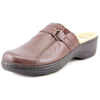 Clarks Hayla Marina Women W Round Toe Leather Brown Clogs
