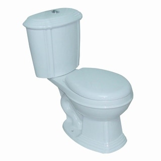 White China Round Dual Flush Toilet Seat Included Renovator's Supply