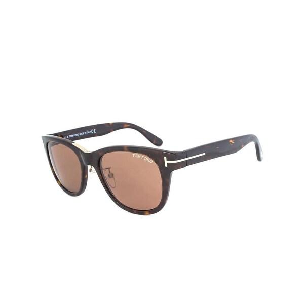87572aa6d58 Shop Tom Ford Designer Sunglasses Oversized UV Protection - HAVANA ...