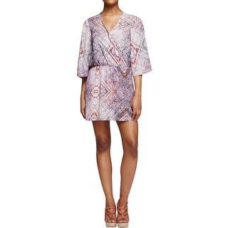 Aqua Womens Casual Dress Kimono Sleeves Surplice