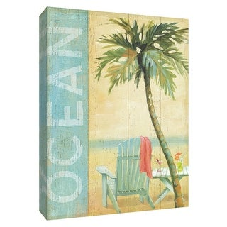 """PTM Images 9-154816  PTM Canvas Collection 10"""" x 8"""" - """"Ocean Beach II"""" Giclee Beaches Textual Art Print on Canvas"""