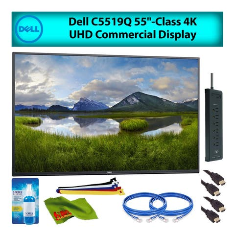 "Dell C5519Q 55"" Inch Class 4K UHD LED Commercial Display Monitor for Office Meetings Advanced Bundle w/ Cleaning Kit"