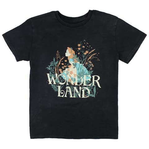 Disney Adult Mens' Alice in Wonderland Stop To Smell The Flowers T-Shirt