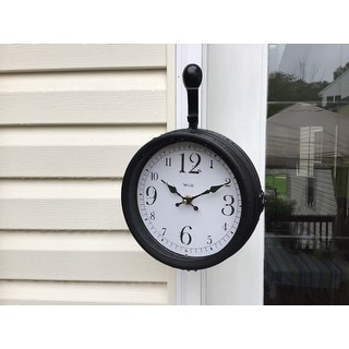Springfield  Wall  Indoor/Outdoor Station Clock and Thermometer