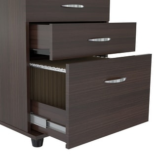 3 Drawer File Cabinet - Melamine /Engineered wood