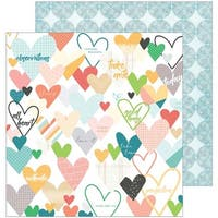 "Caper - Let You Heart Decide Double-Sided Cardstock 12""X12"""