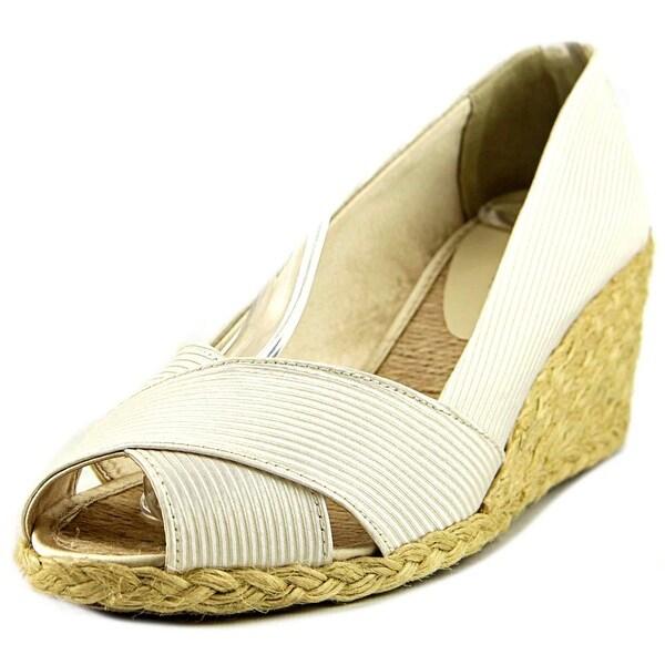 Lauren Ralph Lauren Cecilia Open Toe Canvas Wedge Sandal