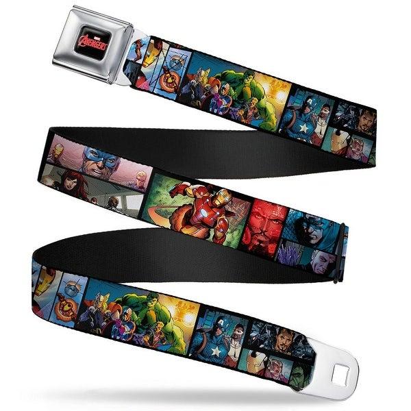 Marvel Avengers Marvel Avengers Logo Full Color Black Red White Marvel Seatbelt Belt