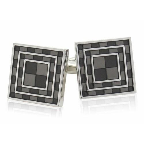 Black Tiles Cufflinks