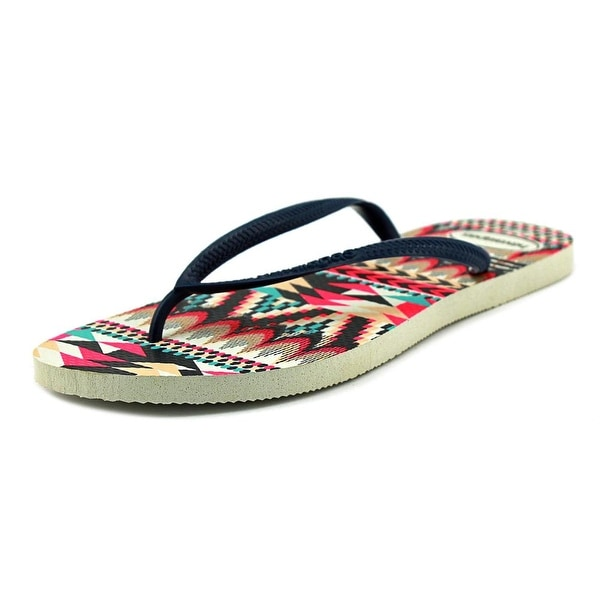 Havaianas Bianca Women Open Toe Synthetic Multi Color Thong Sandal