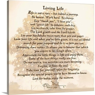 """Living Life"" Canvas Wall Art"