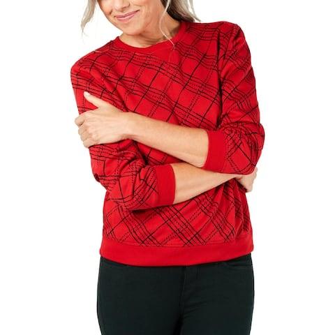 Karen Scott Sport Womens Sweatshirt Fitness Activewear