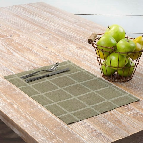 Julie Plaid Placemat Set - Placemat 12x18