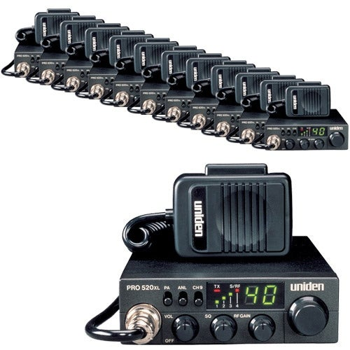 Uniden PRO520XL CB Radio - 12 Pack with ANL Switch and Squelch Knob