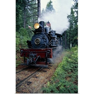 """""""Old fashioned train"""" Poster Print"""