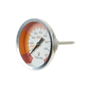"""Taylor 814Gw 2 3/4"""" Outdoor Grill Smoker Dial Thermometer With Stem"""