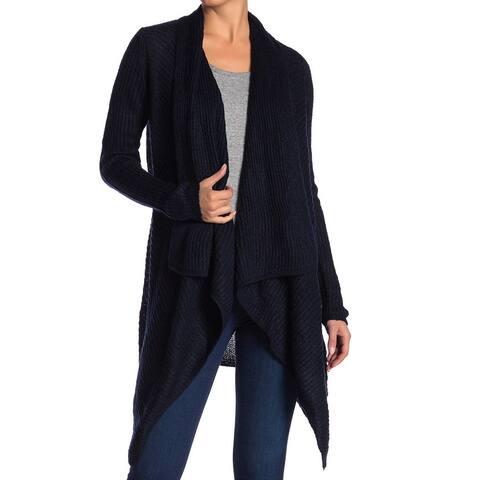 Joe Fresh Womens Sweatere Navy Blue Size Small S Cardigan Draped