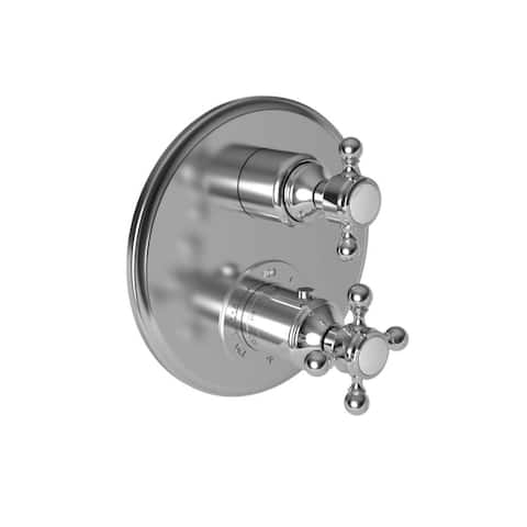 Newport Brass 3-923TR Thermostatic Trim Plate with Integrated Volume Control Diverter