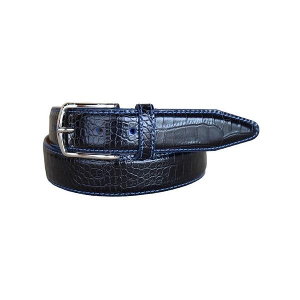 Lejon Western Belt Mens Anzio Calfskin Leather Black