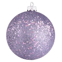 "6"" Lavender Sequin Ball Drilled 4/Bag"