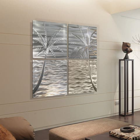 Statements2000 Tropical Metal Wall Art Panels Modern Beach Ocean Decor by Jon Allen - Bahama Mama