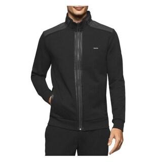 Calvin Klein Men's Full Zip Mix Media Fleece Jacket Size Large