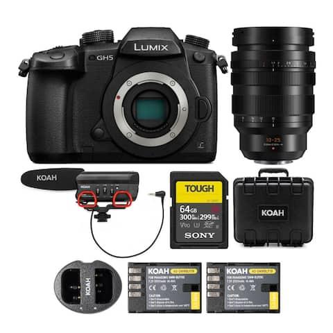 Panasonic LUMIX GH5 Mirrorless Camera w/ 10-25mm f/1.7 Leica DG Bundle