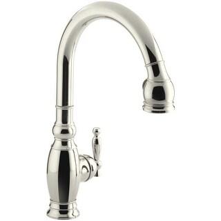 "Kohler K-690 Vinnata Single-Hole or Three-Hole Kitchen Sink Faucet with Pull-Down 16-5/8"" Spout, Lever Handle, ProMotion Hose"