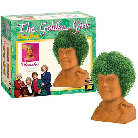 Joseph Enterprises The Golden Girls Blanche Chia Pet Chia Head - Rue McClanahan Decorative Planter, 80s TV Sitcom Character