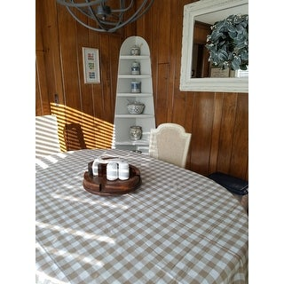 Buffalo Check Cotton Imported Tablecloth